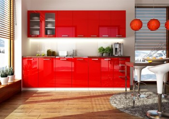 Kuchnia Pepe Czerwony Polysk